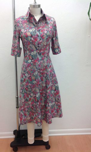 Custom Floral Shirt Dress